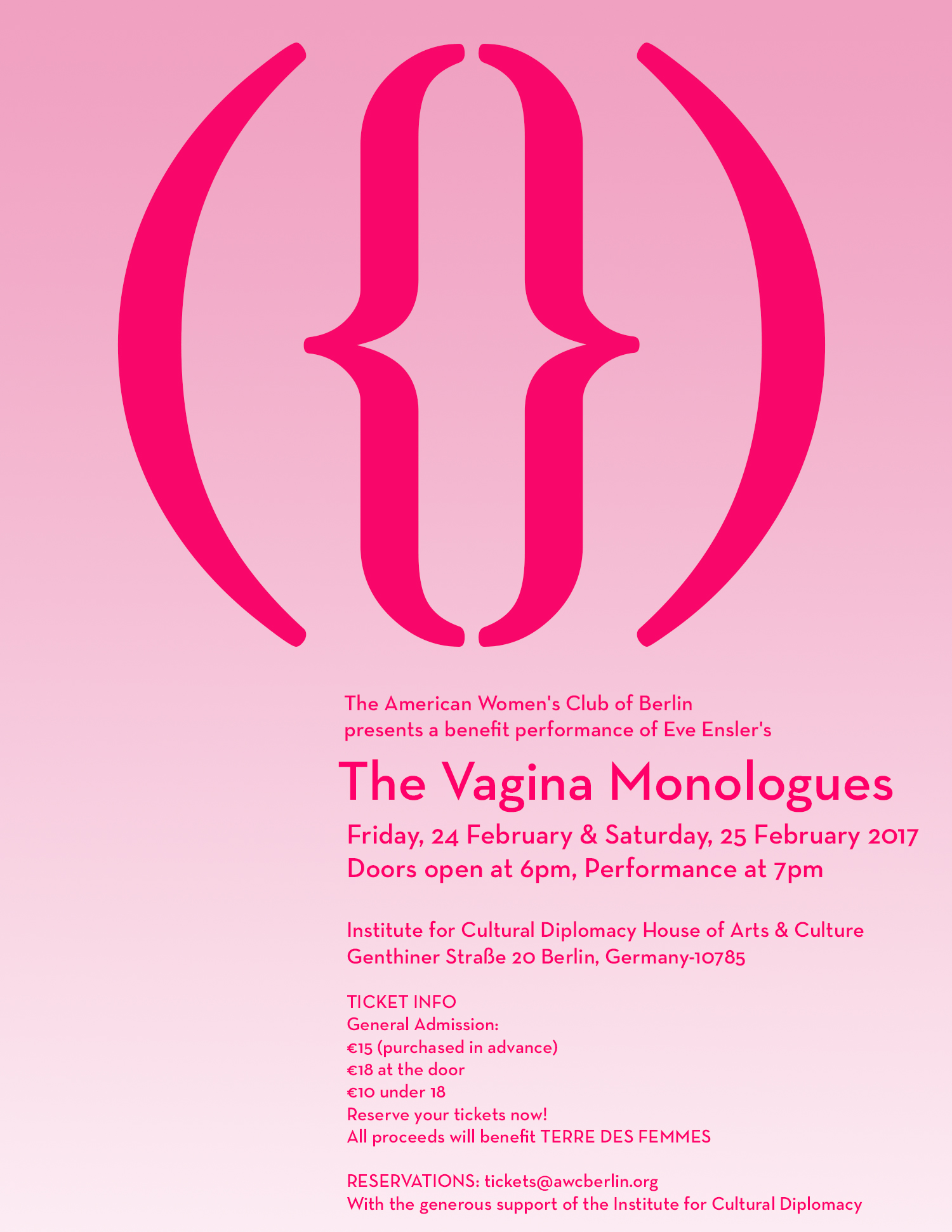"Lesungen/Readings ""Vagina Monologues"" in Berlin"